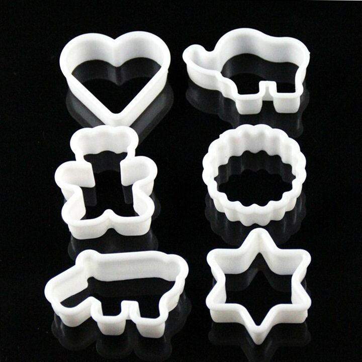 cookie cutter 6 piece/set plastic cartoon animal Baking Tools biscuits cookie mold pineapple Baking mould
