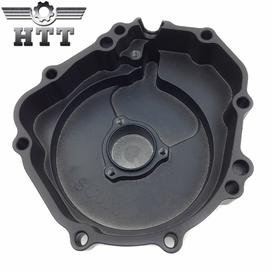 Aftermarket free shipping motorcycle parts  Engine Stator cover  for  Suzuki  2004 GSXR600 750 GSXR1000 left side Black jiangdong engine parts for tractor the set of fuel pump repair kit for engine jd495