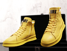 2019 New Arrival Men Fashion Casual Ankle Boots Spring Autumn High Top Leisure Sneakers Male Trend Men Leather Hip Hop Shoes
