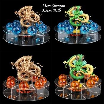 15 см Dragon Ball Z фигурка Shenron Shenlong Dragon Ball Z Набор фигурок Dragon Ball 7 шт. 3,5 см Хрустальные шарики + полка figutas DBZ
