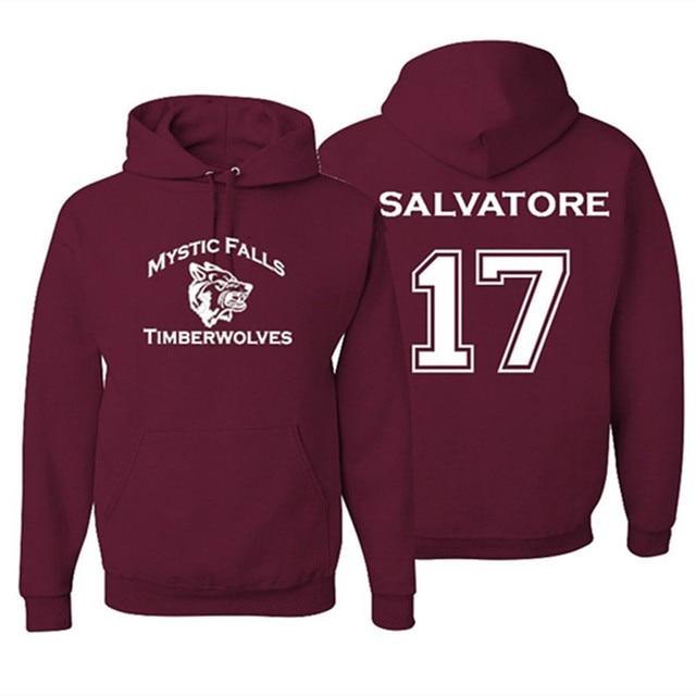 Mystic Falls Timberwolves Vampire Diaries Salvatore 17 Hoodie ...