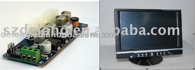7-Inch Stand VGA Touch Screen Panel LED Back-Light Auto Rearview monitor for Car PC+6-32V wide voltage power supply