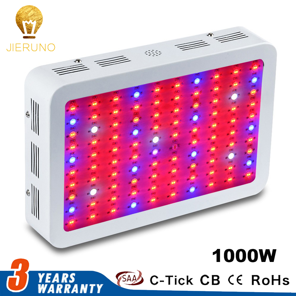 Led Grow Light 1000W Full Spectrum Double Chips 100leds*10w Grow Lamp Red/Blue/White/UV/IR for indoor plant seeding grow tent цена