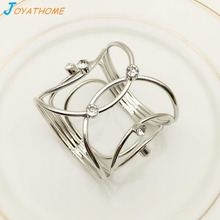 Joyathome Delicate Napkin Rings in Silver  Ring Fashion Towel Buckle Table Decorations Holder