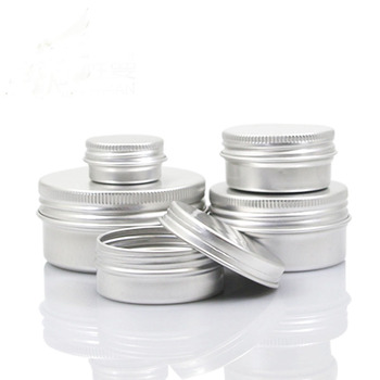 5g-100g Empty Aluminum Jars Refillable Cosmetic Bottle Ointment Cream Sample Packaging Containers Screw Cap