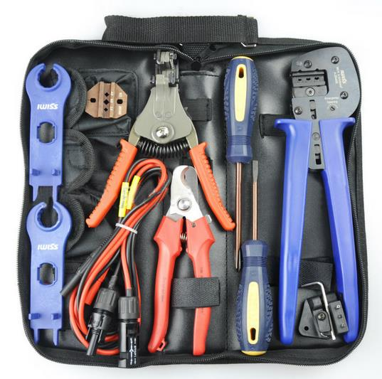 p085 pv photovoltaic solar panel tools kit for solar panel cable rh aliexpress com Crimper Tool wiring tools kit