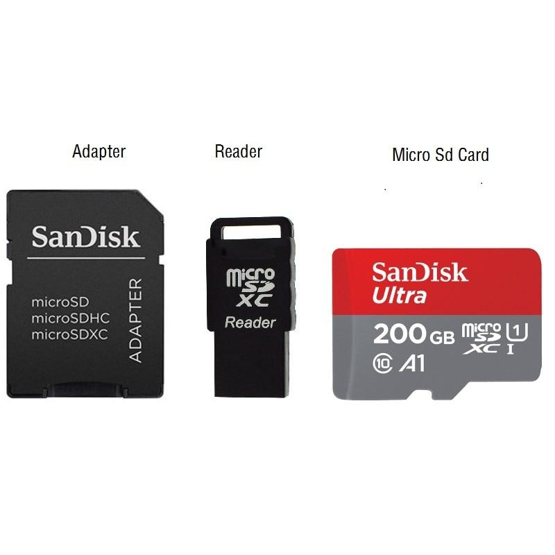 Sandisk microsd carte 200 gb SDXC tarjeta memoria 200 gb cartao sd classe 10 carte mémoire tf flash carte pour tablet smartphone
