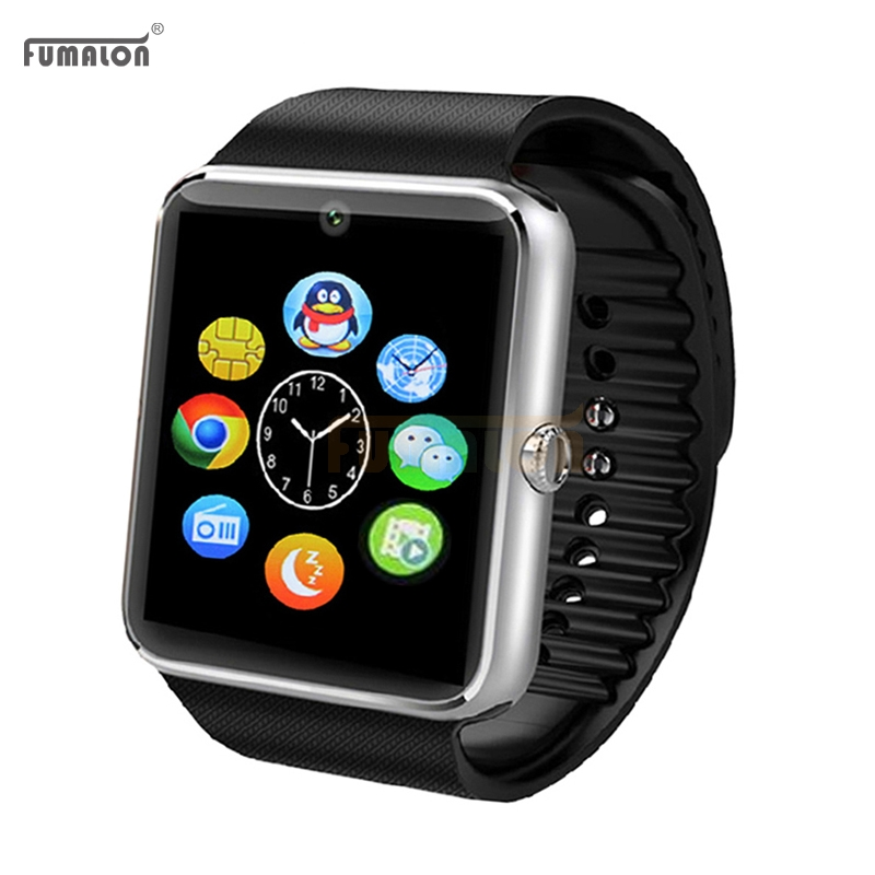 Smartwatch GT08 Smart Watch Bluetooth Clock Sync Notifier Support Sim Card Bluetooth Connectivity For Ios Iphone Android Phone gt08 smart watch bluetooth 3 0 sim card slot push message bluetooth connectivity nfc for iphone android phoones smartwatch