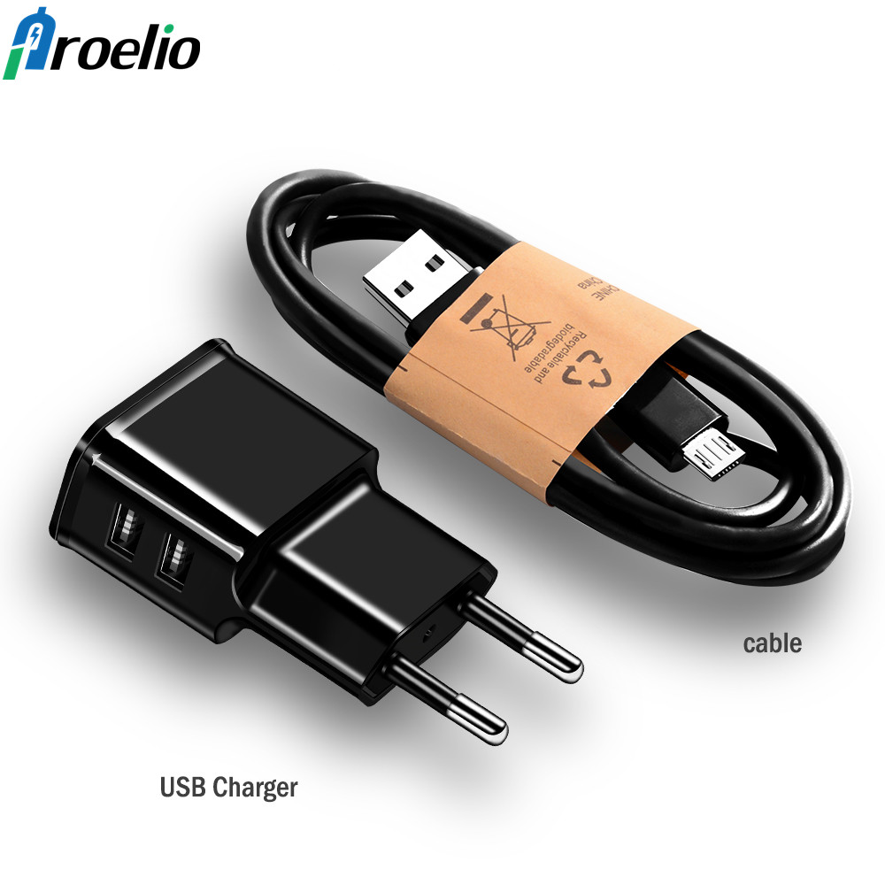 For iPhone 8 X Samsung S8 Tablet Charger Mobile Phone Charger 5V 2A USB Travel Charger Portable Wall Adapter EU Plug Black/White
