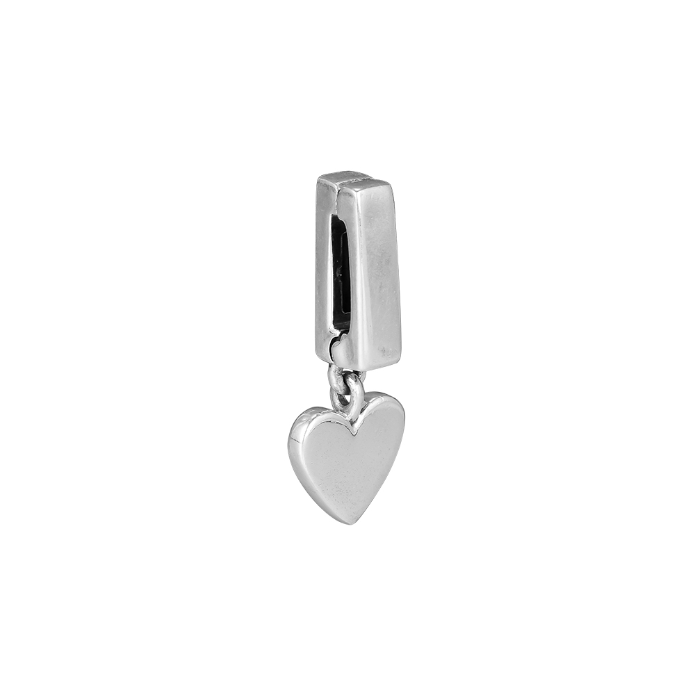 Pandulaso Reflexions Floating Heart Clip Charm Fit 925 Sterling Silver Jewelry pulseras para mujer DIY Beads For Jewelry Making