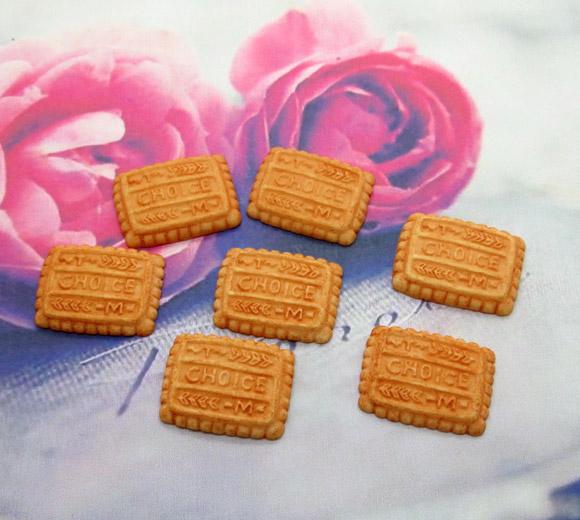 20Pcs Resin Coffee Chocolate Cookies Crafts Flatback Cabochon Scrapbooking Decorations Fit Hair Clips Embellishments Beads Diy