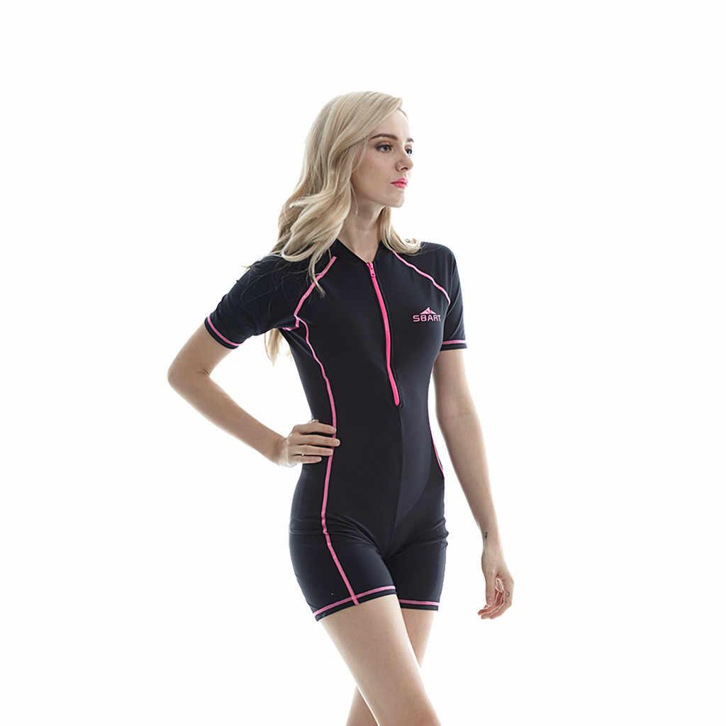 Dalgıç kıyafeti esnek UV Korumalı Nefes Geri fermuar Yeni Neopren Shorty Wetsuit Tüplü dalgıç kıyafeti Döküntü Bekçi dalgıç giysisi