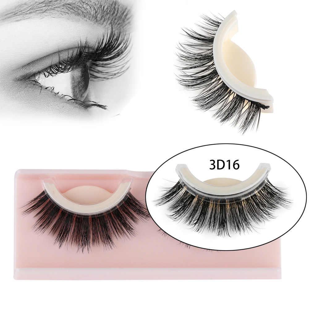 b94d8112111 Detail Feedback Questions about 3D False Eyelashes Extension Reusable Self  Adhesive Natural Curly Eyelashes Self Adhesive Mink Hair No Glue Eye lashes  ...