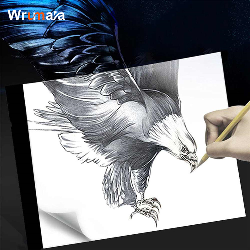 Wrumava 15*21cm A5 size Mini Tracing LightBox LED Artcraft Tracing Light copy Pad Light Box for Artists Drawing board Sketching