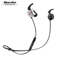 Bluedio TE Original Bluetooth 4 1 Wireless Sports Earphones With Built In Mic Five Colors