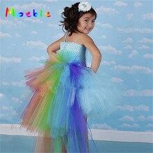 Kids Dress for Girls Cartoon Unicorn Princess Tutu Flower Wedding Birthday Prom Dance Cosplay