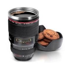 Kreative Kamera Objektiv 24-105mm 1:1 Skala Plastic Kaffee Milch Tee BECHER 400 ML Kreative Schale Und Tassen mit Deckel Reisebecher