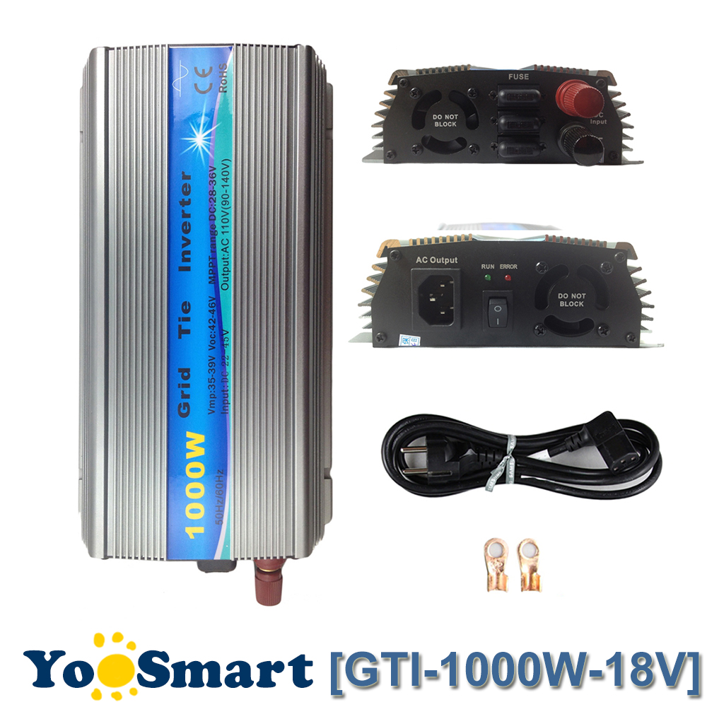 PowMr 1000W MPPT Pure Sine Wave Inverter 18VDC(10.8-30VDC) Input 110VAC or 220VAC Output 50Hz/60Hz On Grid Tie InverterPowMr 1000W MPPT Pure Sine Wave Inverter 18VDC(10.8-30VDC) Input 110VAC or 220VAC Output 50Hz/60Hz On Grid Tie Inverter