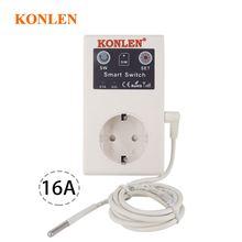 Commutateur relais 16a GSM, prise ue, commande à distance, pour maison, Garage ouvre porte, contrôleur de température SMS avec capteur