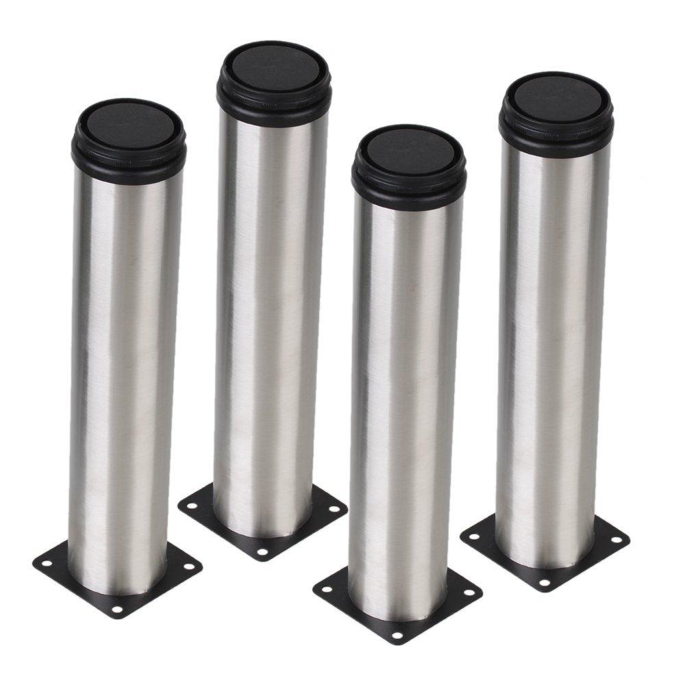 Perak 50x250mm kaki kabinet kaki logam adjustable stainless steel kitchen table meja pack dari 4 di kastor dari perbaikan rumah aliexpress com alibaba