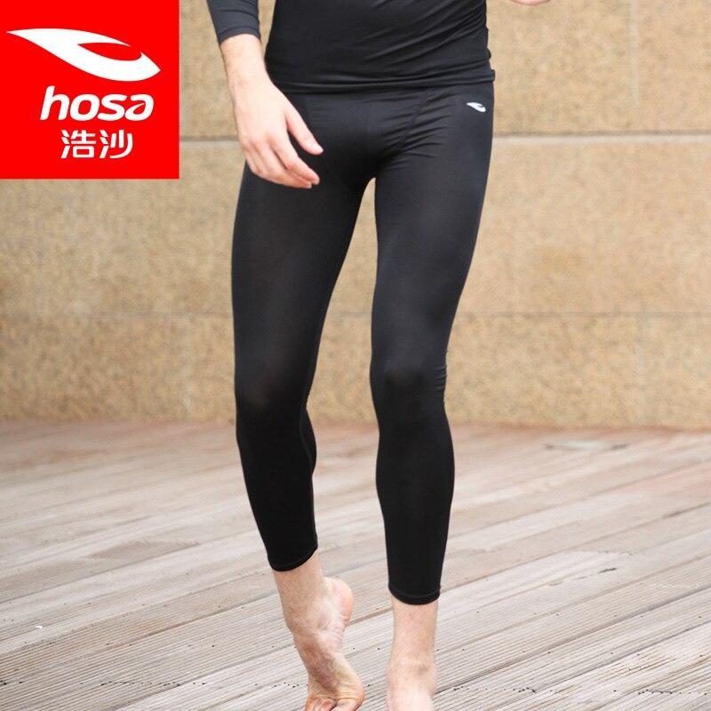 Mens Yoga Pants Fitness Running Pants Breathable Fabric