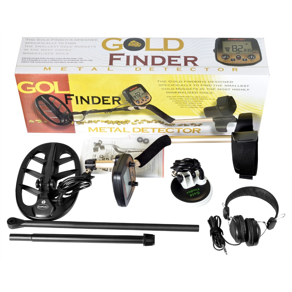 New Arrival Underground Metal Detector Search Pro Gold Finder Bug Detector 2 Coils Treasure Hunter Finder Pinpointer LCD Display