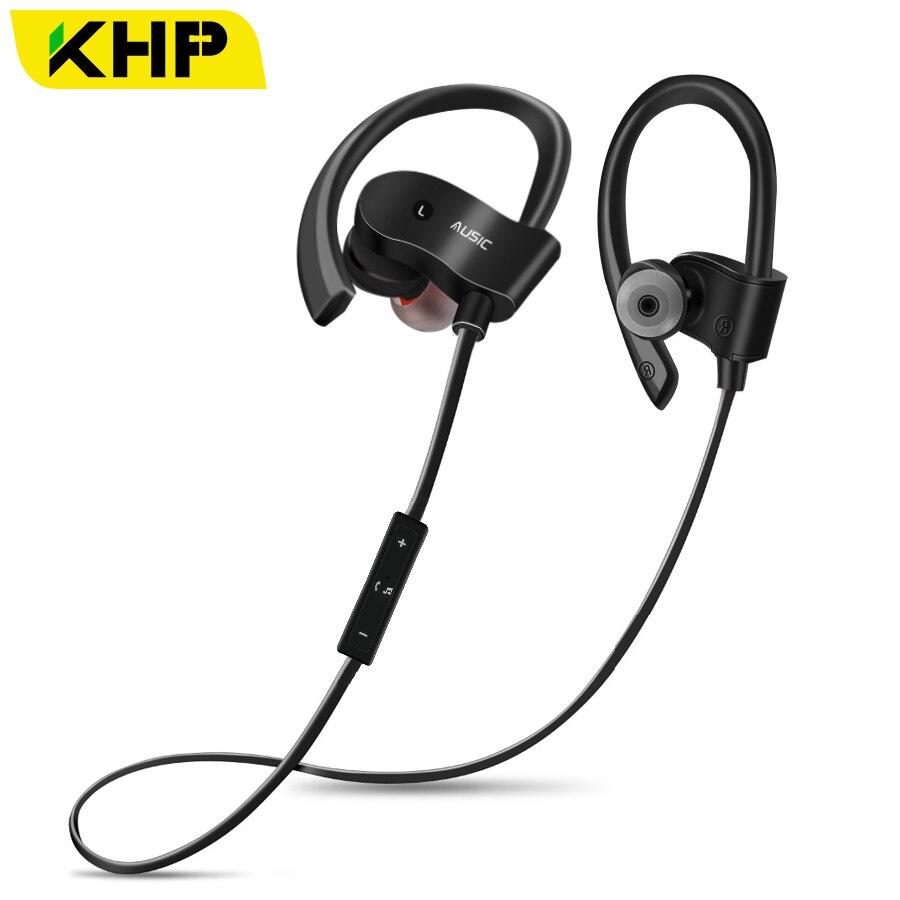 2018 KHP Bluetooth Fone de Ouvido Para Jogos De Fone de ouvido de Telefone Sem Fio Fones de Ouvido fones de Ouvido Fones de Ouvido Gancho Esporte Fone De Ouvido Bluetooth Fone de Ouvido