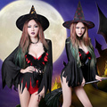 Brands WYB Women's Halloween Clothing Tight Dance Wear Party Sexy Costume Role Witch Cosplay Jumpsuit