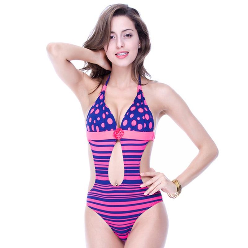 Foclassy nuevo traje de baño sexy raya empuja hacia arriba más el - Ropa deportiva y accesorios