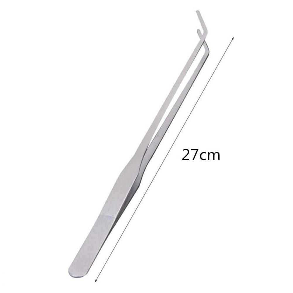 Пинцет из нержавеющей стали/ножницы для аквариума, инструмент для очистки растений, инструменты для обслуживания аквариума-30 - Цвет: Bend tweezers