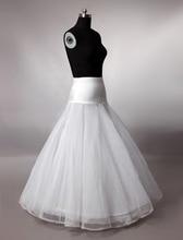 Caliente la venta una línea enaguas para el vestido de boda nupcial de tul menos aro falda en línea de un tamaño