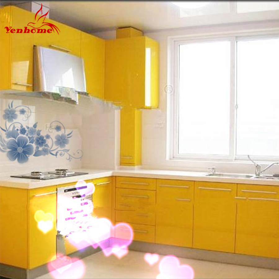 60x300cm yellow paint self adhesive wallpaper decorative for Adhesive decoration