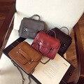 Envío Libre Bolso de Las Mujeres 2016 pequeñas hebillas de moda PU bolso de hombro marrón bolsa multiusos de la vendimia gris hembra bolsas de mensajero