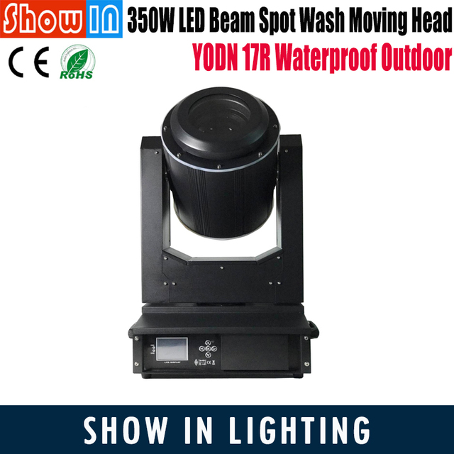 17R 350W Sharpie LED Beam Spot Wash Moving Head Outdoor RGB 3in1 DMX512 Stage Lightings Equipment Free Shipping With Flightcase