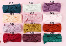 24pc/lot New Kids Skinny Soft Twist Nylon Headbands Pale Pink Color Nylon Elastic Headbands Children Girls Hair Accessories