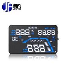 Juefan Q7 GPS HUD Head Up дисплей автомобиля Speed проектор на лобовое стекло GPS Спидометр Скорость движения километров высота