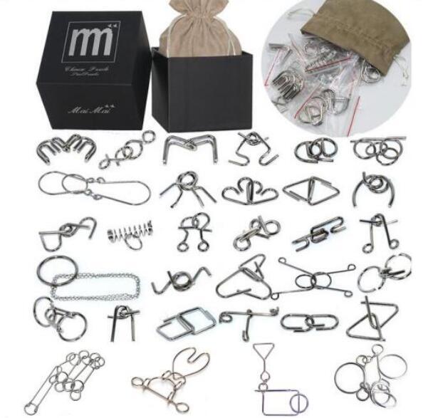 28 / 32PCS per Set IQ Metal Puzzle Mind Brain Teaser Magic Wire - Spel och pussel - Foto 4