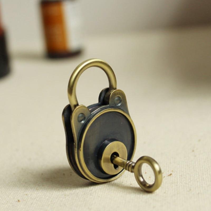 Dagbok Notebook Lock Bagagebältnyckel Lås Antik bronsfärg - Möbel - Foto 2