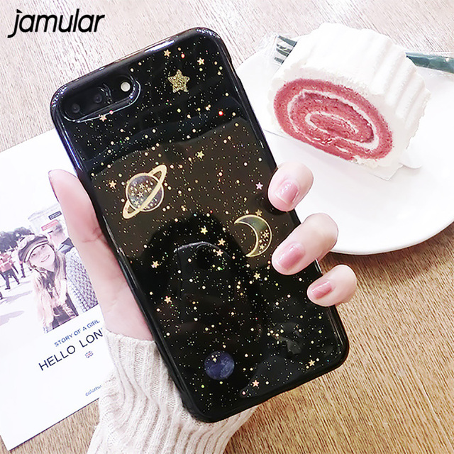 the best attitude 7d108 a04b3 US $4.29  JAMULAR Bling Star Universe Case for iPhone 6s 6 7 8 Plus Soft  Silicone Shining Sparkling Back Cover for iPhone X 6 6s 7 8 Coque-in Fitted  ...