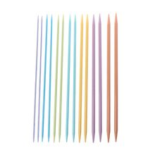 7Pairs 14Pcs In 7Sizes Multi-Color Plastic Knitting Needles Set Double-Pointed Knitwear  Tools Wool Weave Craft