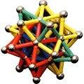 144 unids diy diseñador imán juguetes educativos juguete barras y bolas de metal para niños bloques de construcción magnética juguetes de construcción accesorios