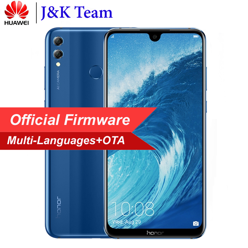 Huawei Honor 8X Max 7.12 inch Portable 4900 batterie mah Smartphone Android 8.2 16MP Caméra google play en Plusieurs Langues