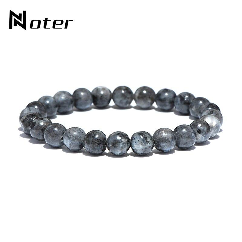 Noter Minimalist Natural Stone Beads Bracelet Punk Vintage Buddha Meditation Braclet For Men Yoga Jewelry Hombre