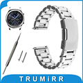 22mm Quick Release Watch Band +Tool for Samsung Gear S3 Classic / Frontier Stainless Steel Strap Link Belt Bracelet Black Silver