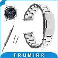 Venda de reloj de 22mm de liberación rápida + herramientas para samsung gear s3 clásico/Frontier Acoplamiento de La Correa de Acero Inoxidable Pulsera de La Correa Negro plata