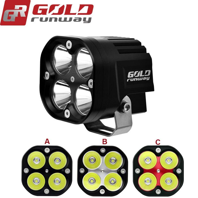 1 pcs 9 V-36 V U3 Étanche LED moteur lumière moto ATV UTV phare Conduite Lumière Brouillard lampe stroboscopique spot light