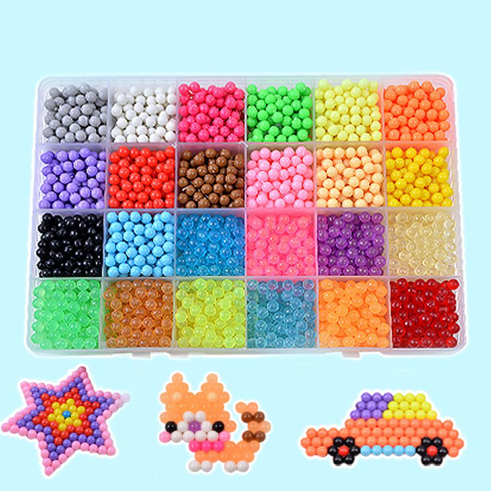 Kids Spell Replenish Fuse Beads Creative Beads Molds Hand Making Educational Aqua Water Refill Spray Beads DIY Craft Toy Gift(China)