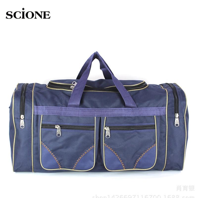 80L Outdoor Gym Bags For Fitness Men Women Travel Bag Shoulder Crossbody Training Handbags Sac De Sports Waterproof Nylon XA45WA