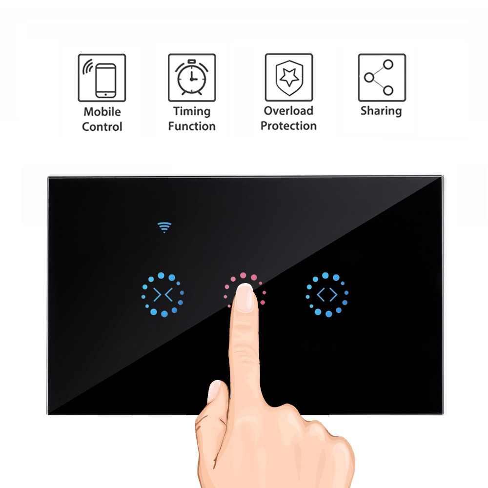 Nam inteligentny Wifi przełącznik dotykowy kurtyny wsparcie APP sterowania Alexa Google domu do elektrycznego zasłona z silnikiem niewidomych rolety