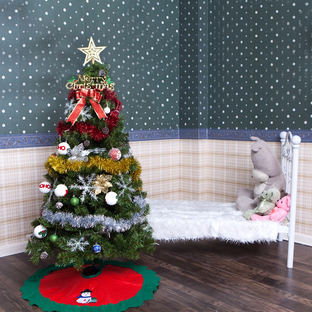 Infant Shining Christmas tree 1.5M(5feet) with Decorations Star Light Festival DIY large Christmas Party Tree